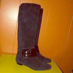 Michael Kors Black Suede Knee High Boots